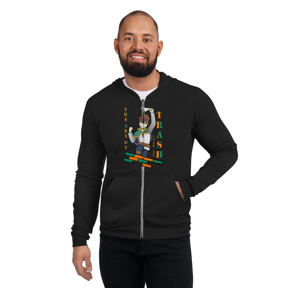 "Konosuba ""Art of Trash"" Zipper Hoodie"