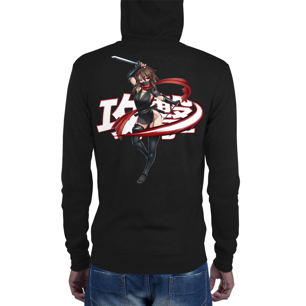 Assassin's Crimson Ninja Zipper Hoodie