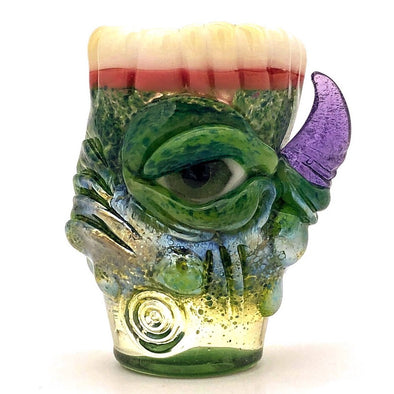 "Eli Mazet Sculpted Eye Shot Glass 2.5"" Teeth"