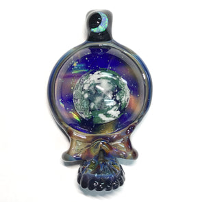 Matthew Neebs Glass Skull Pendant
