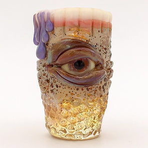 "Eli Mazet Sculpted Eye Shot Glass 2.625"" Teeth"