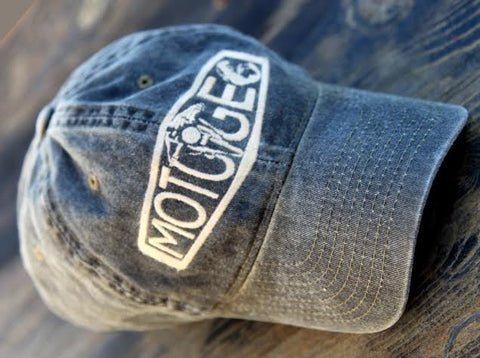 MotoGeo Logo Baseball Cap in Black