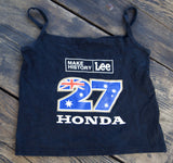 Casey Stoner, MotoGP, #27, Women's crop top, grid girl (Worn Once)