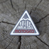 MotoGeo Camp Enamel Pin