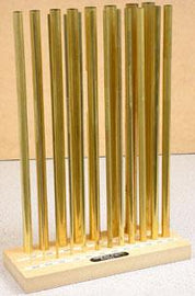 Brass Tube Assortment w/ Stand