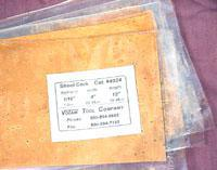 "1/8"" x 4"" x 6"" SHEET CORK ... (3.2mm)"
