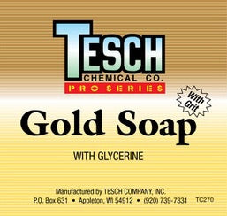 TESCH GOLD SOAP HAND CLEANER WITH GRIT
