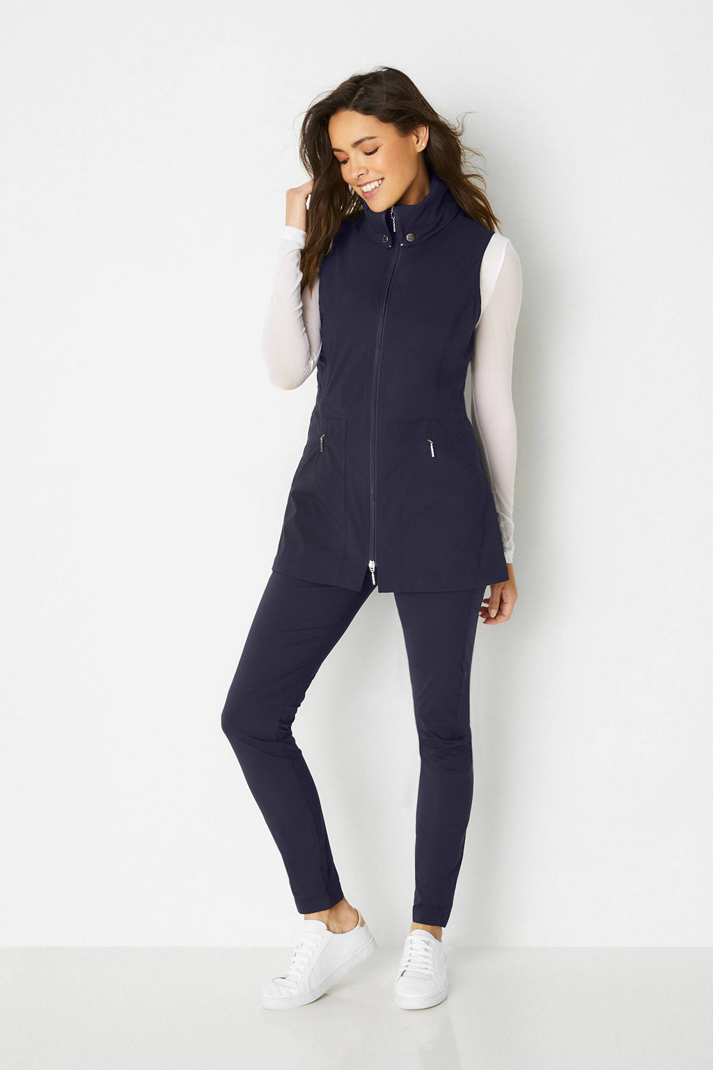Delaney Travel Vest- Navy