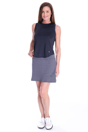 Sport Tech Tie Top - Navy