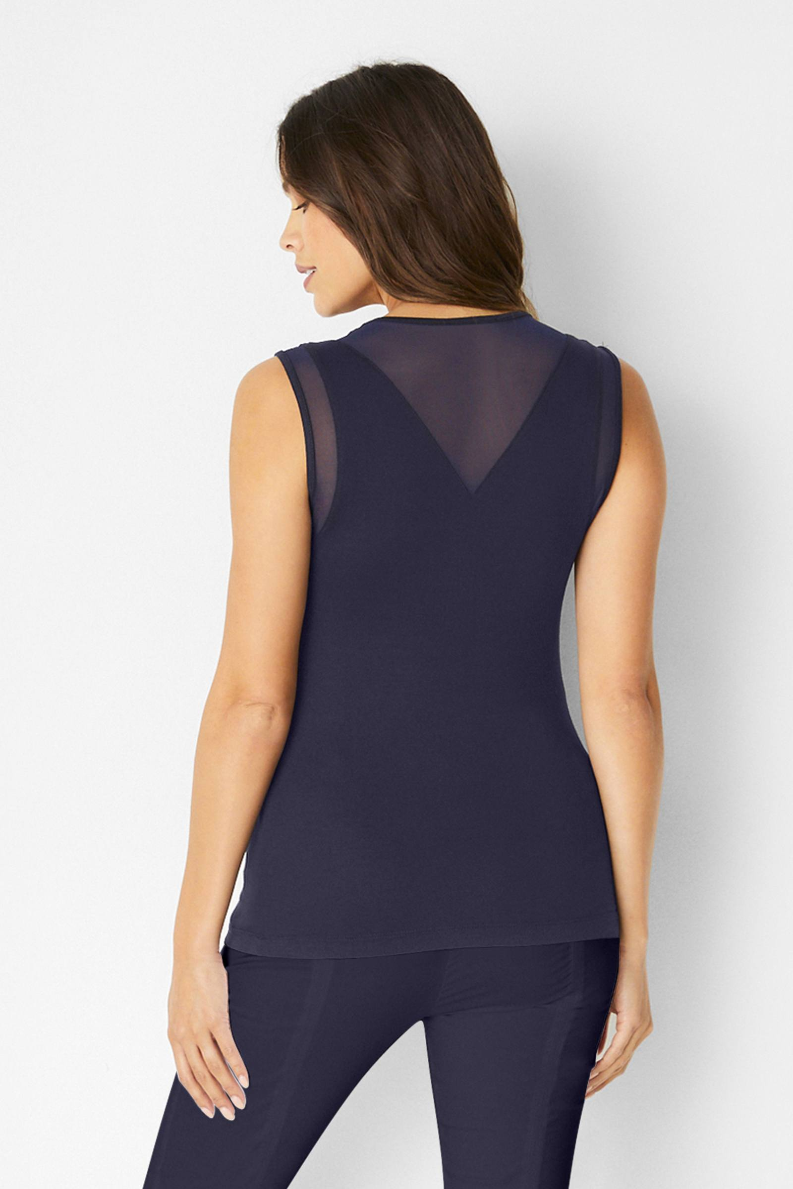 Flo Sleeveless Top-Navy