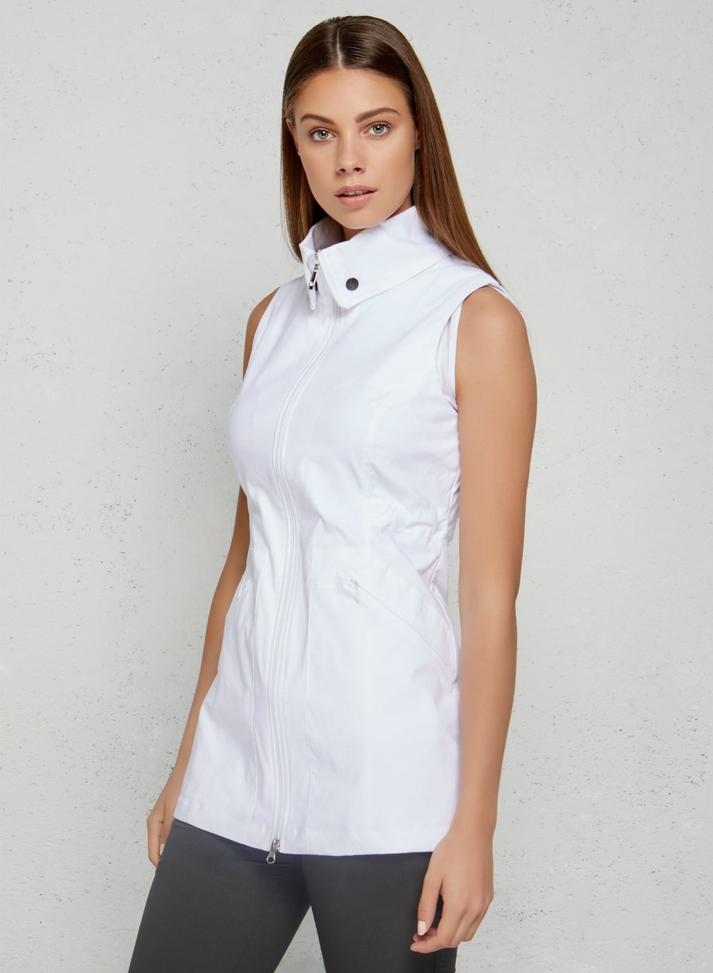 Delaney Travel Vest- White