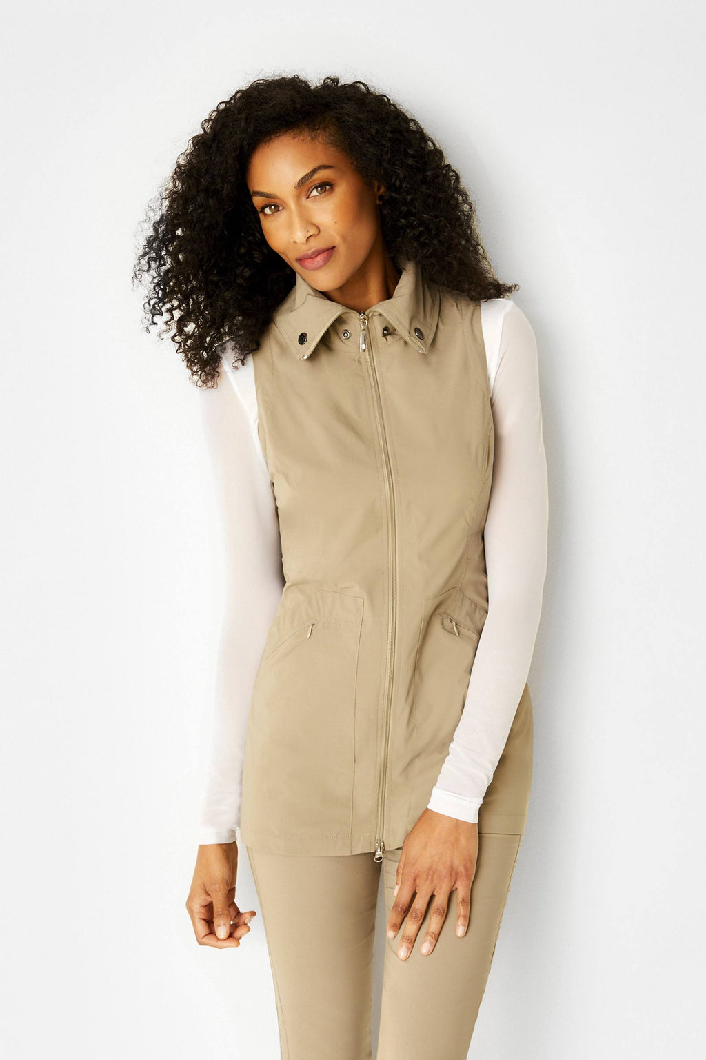 Delaney Travel Vest- Khaki
