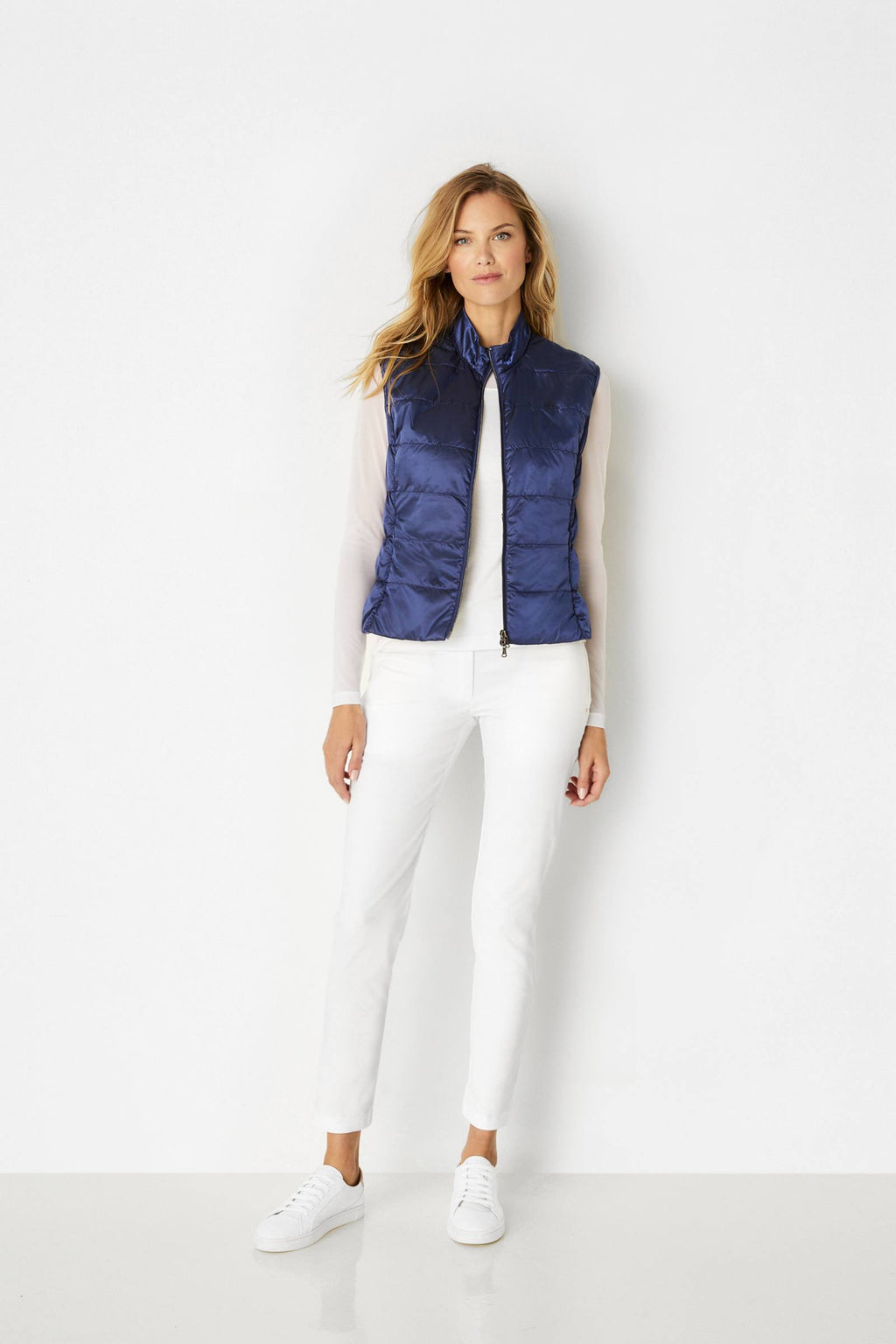Kinsley Metallic Vest- Navy