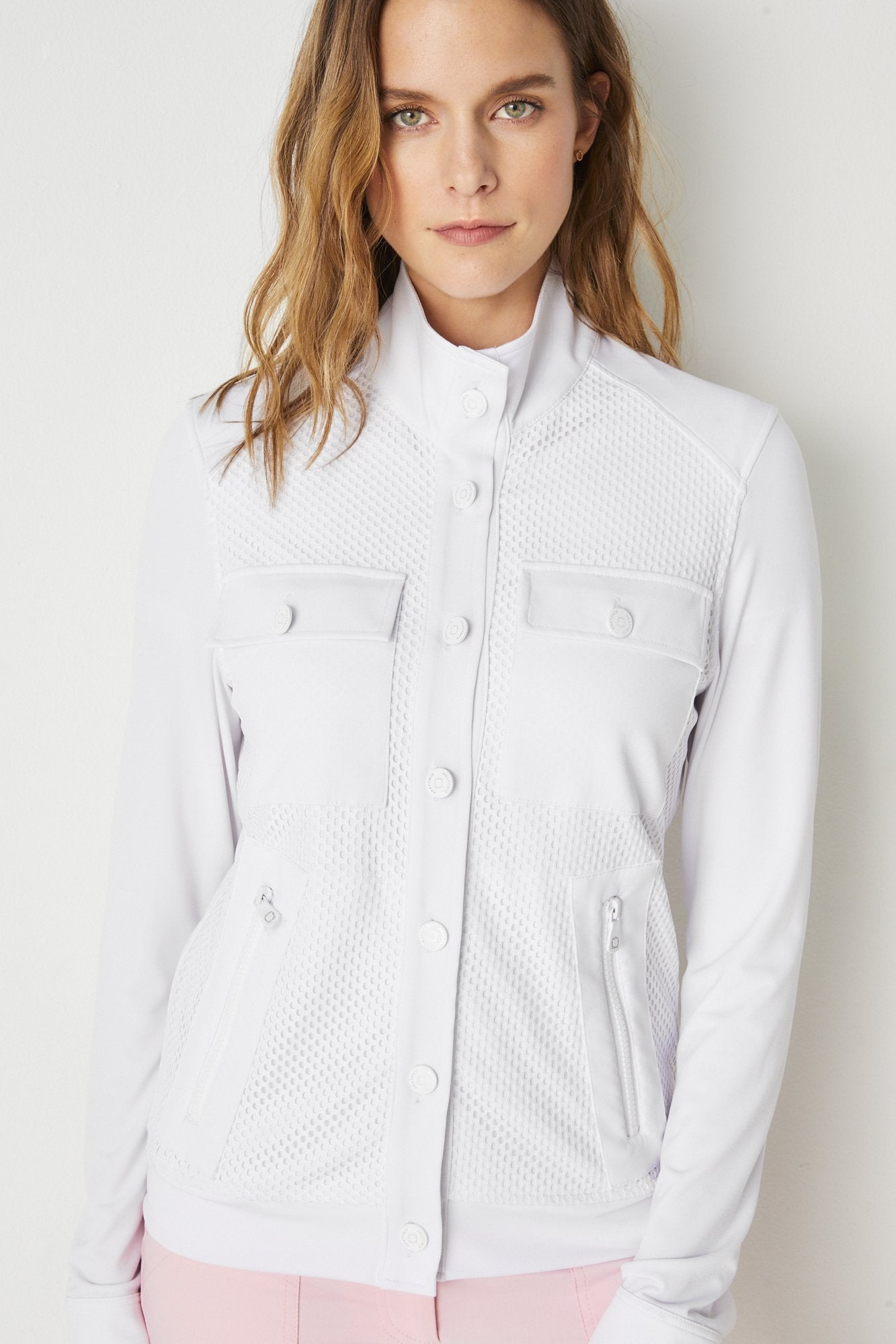 Shana Lightweight Cargo Jacket- White