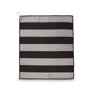 Tinsley Towel- Black & Grey Stripes
