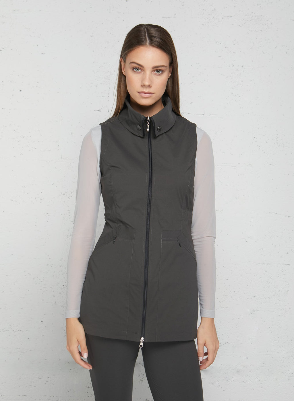 Delaney Travel Vest- Grey