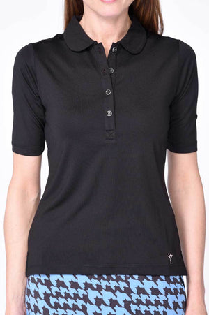 Elbow Fashion Tech Top - Black