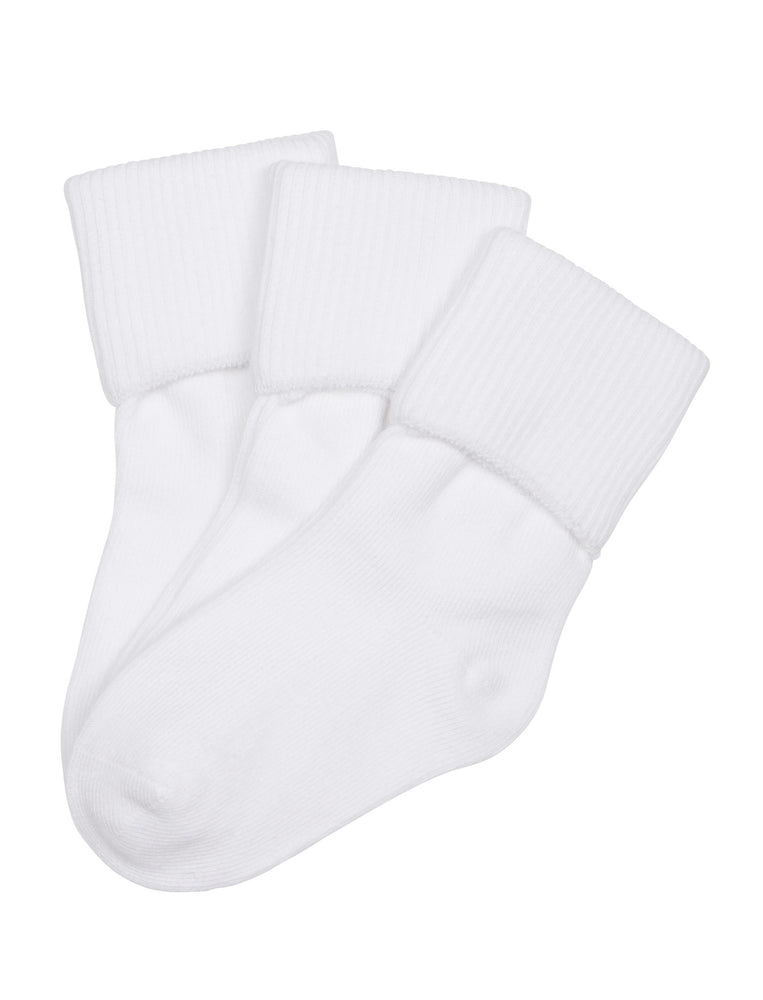 6-Pack Single Cuff Socks with Comfortoe Technology Socks (White)