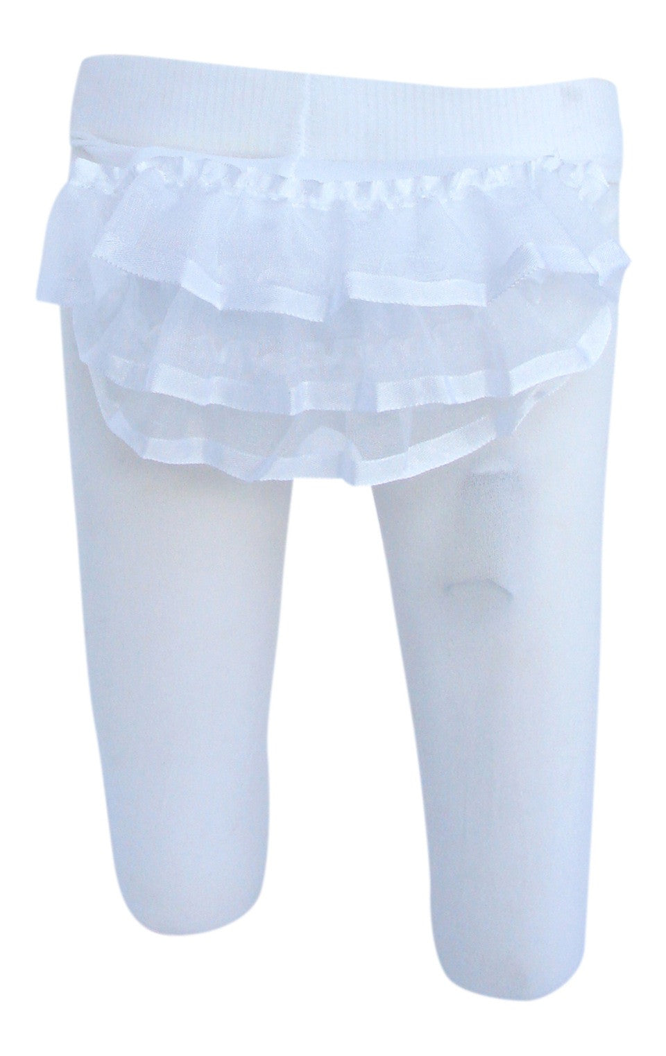 2-Pack Sheer Ribbon Rhumba Tights (White)