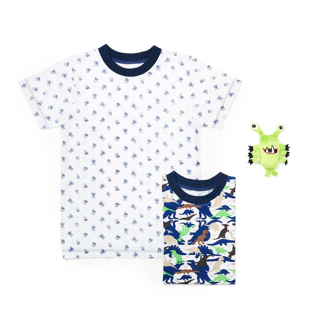 3-Pack Hairy Monster 100% Cotton Fashion Printed T-Shirts