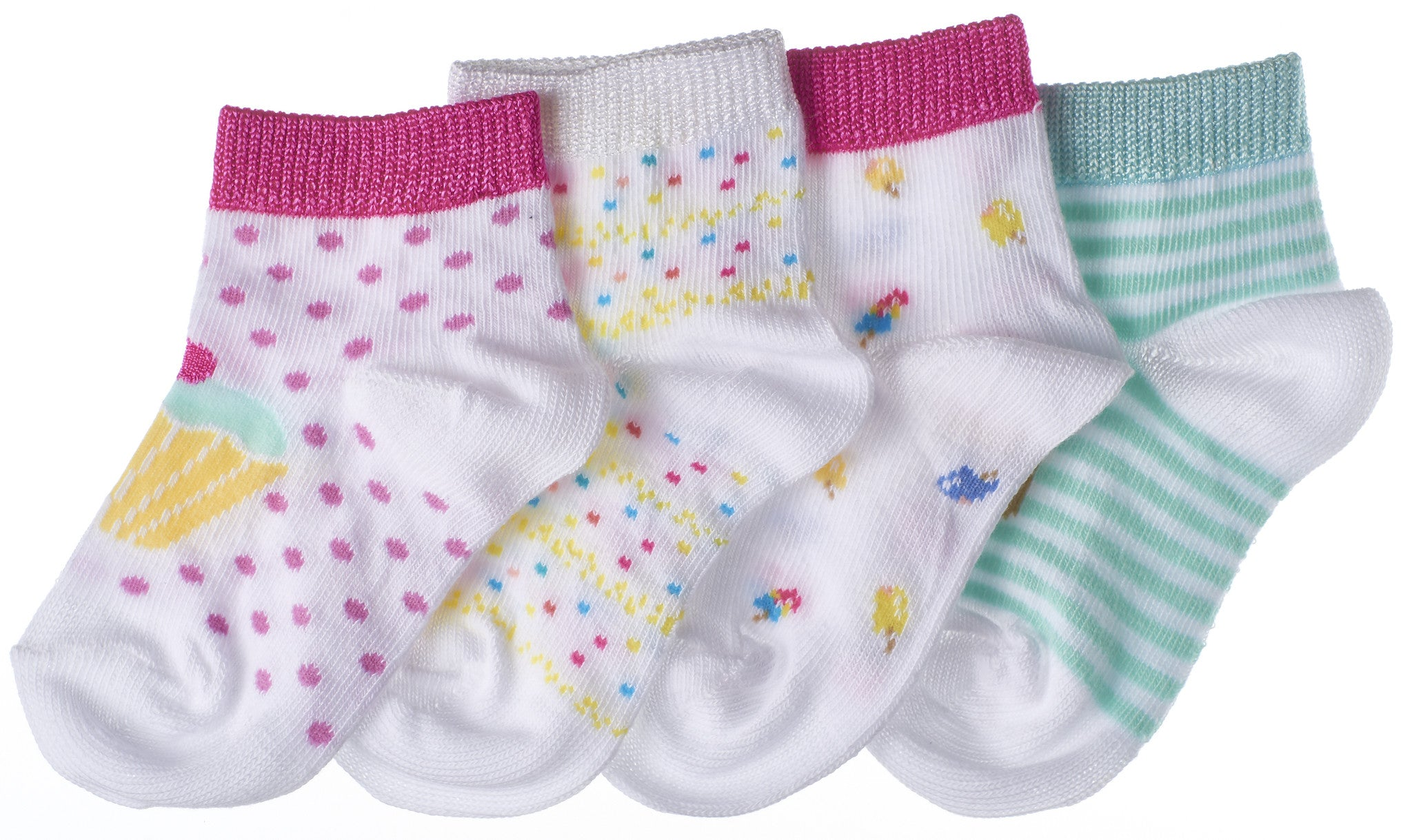 8-Pack Sweet Candy Toddler Girls Socks