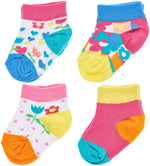 4-Pack Flower Bomb Quarter Socks