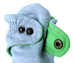 Infant Gray and Green Baby Booties