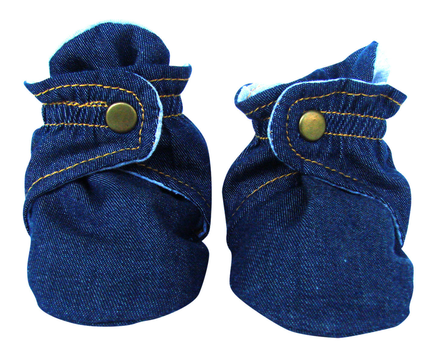 Infant Denim Blue Baby Booties