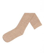 Flat Knit with Comfortoe Technology Socks (Camel Heather)