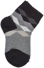 3-Pack Classic Panel Multi Diamonds Crew Socks (Medium Grey Heather/Denim Heather/Black)