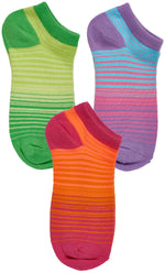 6-Pack Girls Sport Low Cut Socks, Gradient