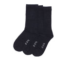 3-Pack Navy Cotton Crew with Comfortoe Technology Socks (Navy)