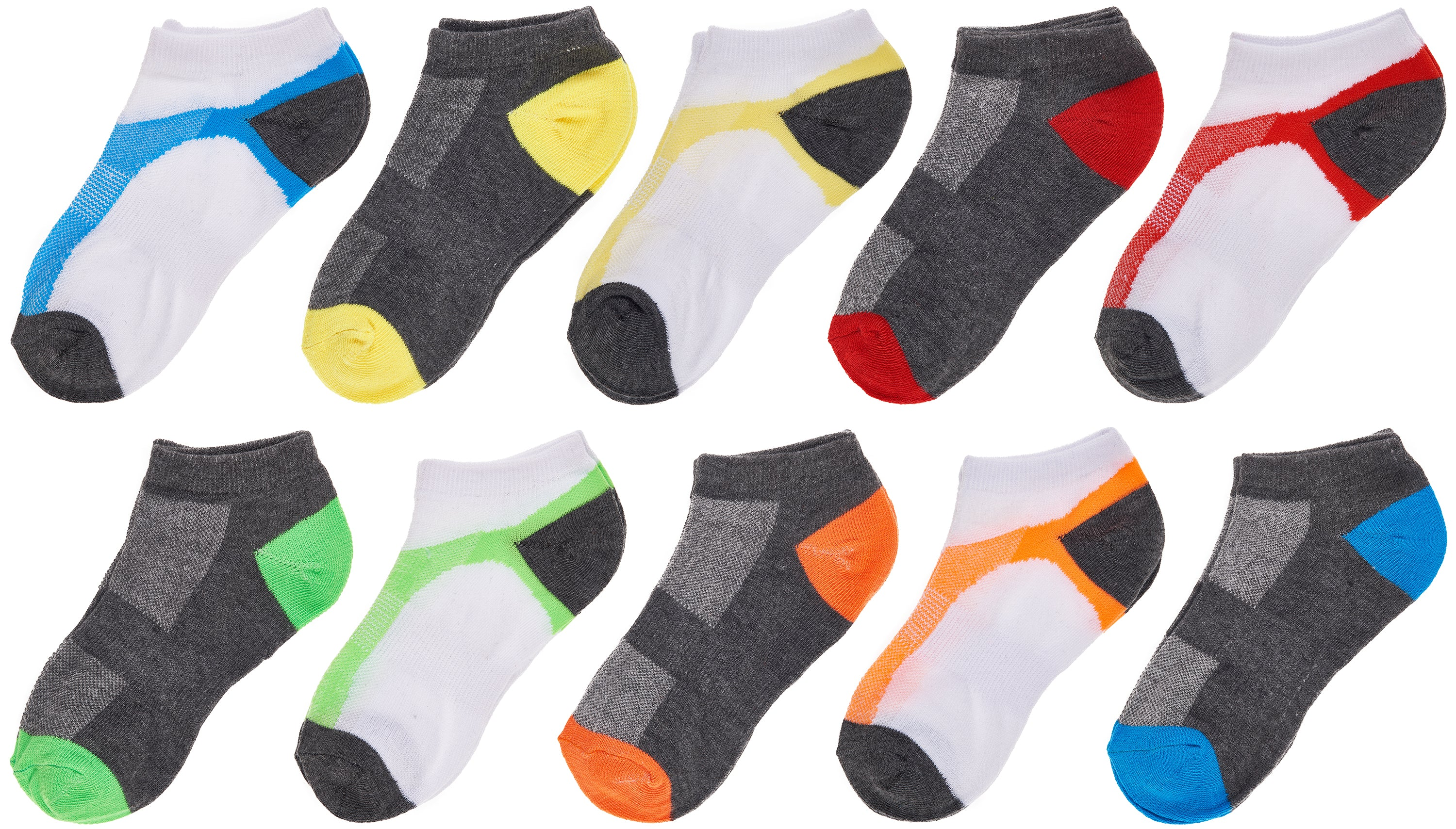 Trimfit Boys 10 Pack Lowcut Socks, Active