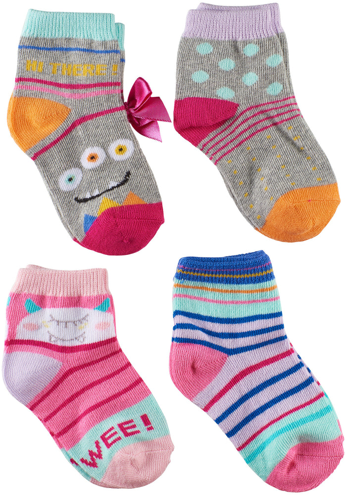 Toddler Girls Monsters Socks