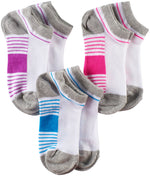 Girls Sport Low Cut Socks, Purple/Blue/Pink (Pack of 6)