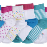 7-Pack Under the Sea & Sweet Candy Toddler Girls Socks
