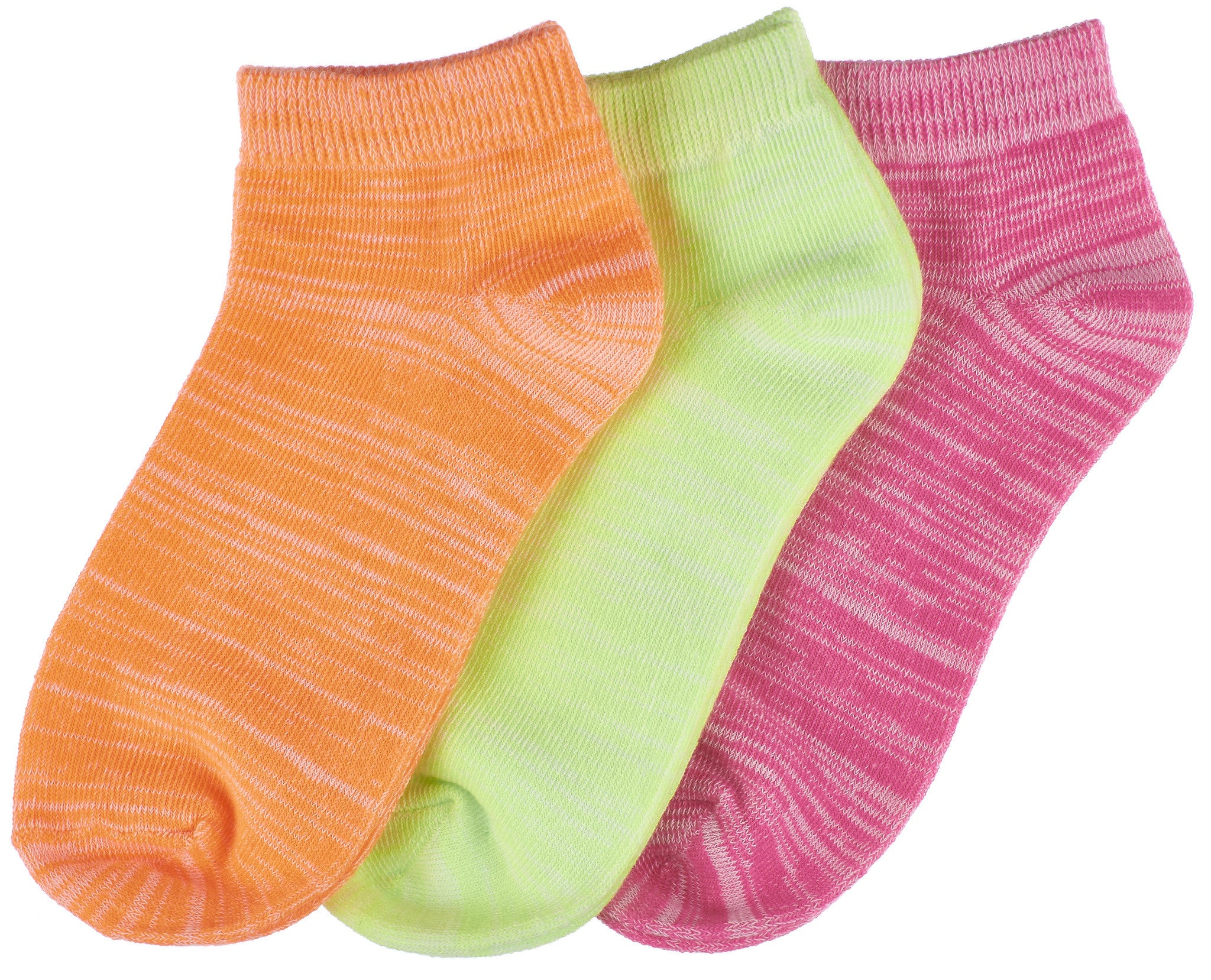 3-Pack Trimfit Girls Space Dye Quarter Socks