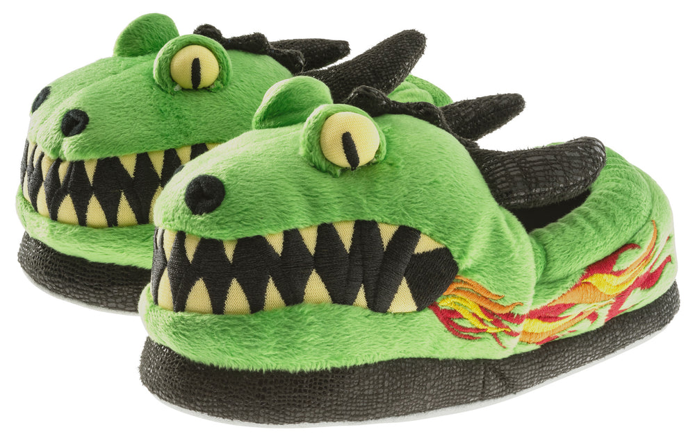 Boys Dragon Plush Slipper