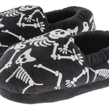 "Boys ""Glow in the Dark"" Skeleton Bones Slipper"