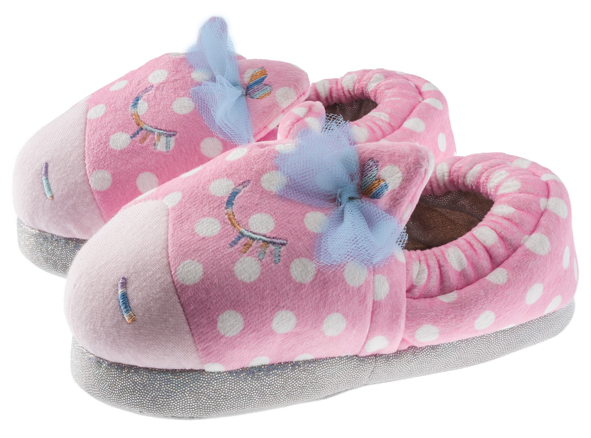 Girls Magical Sparkle Pony Slippers