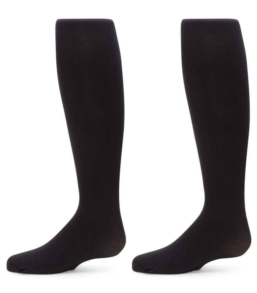 2-Pack Nylon Sueded Microfiber Tights (Black)
