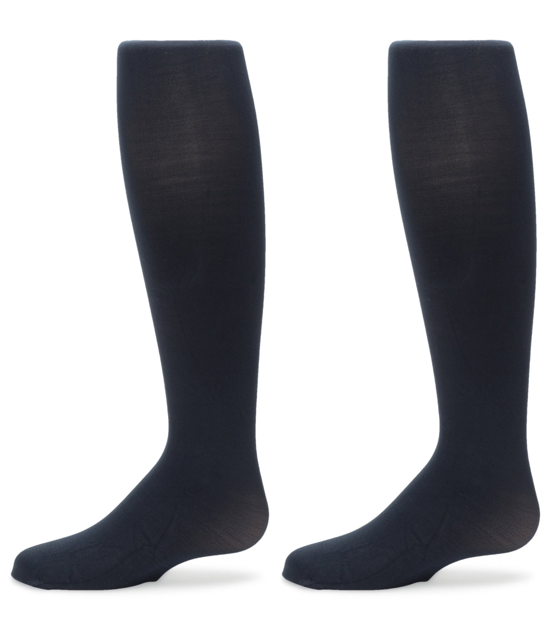 2-Pack Nylon Sueded Microfiber Tights (Navy)