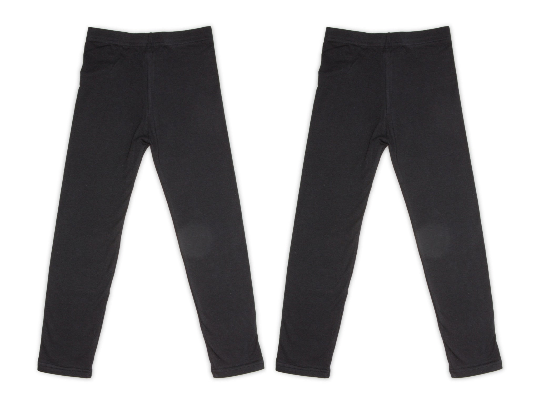 2-Pack Cotton Leggings (Black)