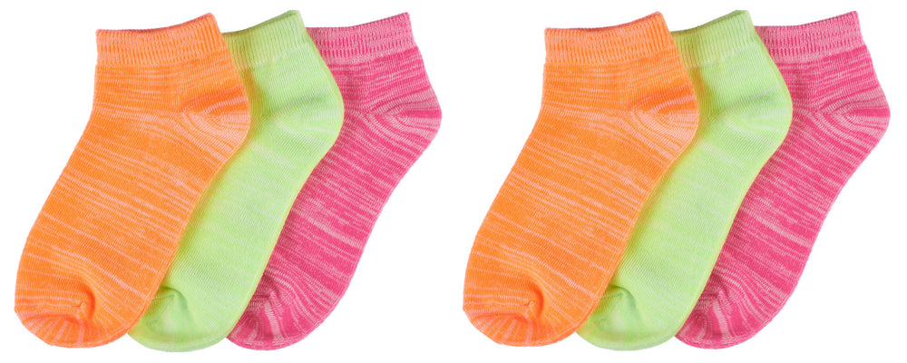 6-Pack Trimfit Girls Space Dye Quarter Socks