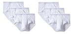 6-Pack Tagless 100% Combed Cotton Briefs (White)