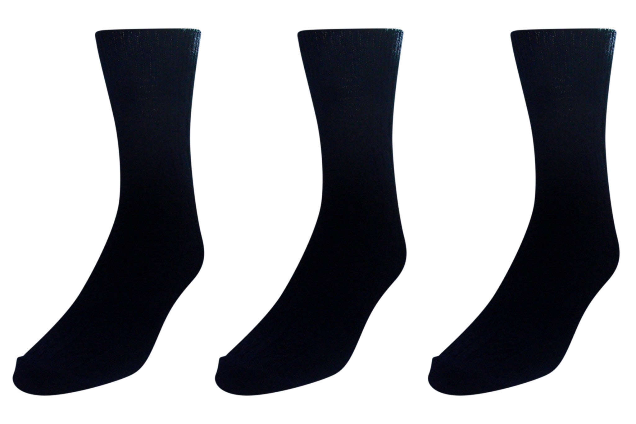 3-Pack Acrylic & Spandex Cable Knit Knee Hi's Socks (Navy)