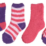 4-Pack Microfiber Fuzzy Printed Cozy Girls Socks