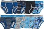 8-Pack 100%  Cotton Dinosaur Camo Underwear Briefs Blue/Grey Multi Color
