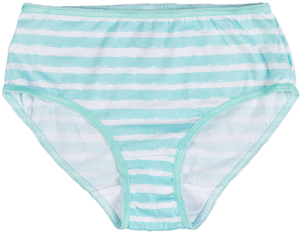 Trimfit Girls' Tagless Assorted Briefs Underwear (Pack of 6), Dots Stripes