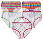 5-Pack Yummy Cupcakes Tagless Panties 100% Cotton Fashion Prints